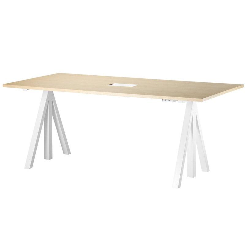 String Furniture String Works height adjustable work desk, 180 cm, ash
