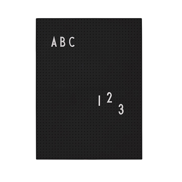 Design Letters Message board A4, black