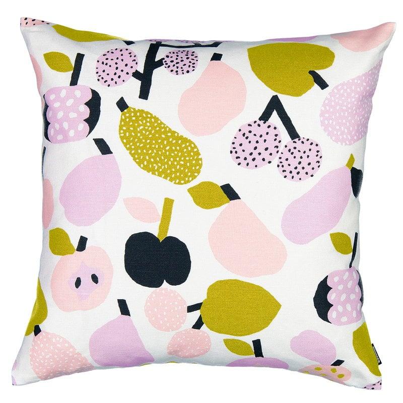 Kauniste Tutti Frutti cushion cover, olive green