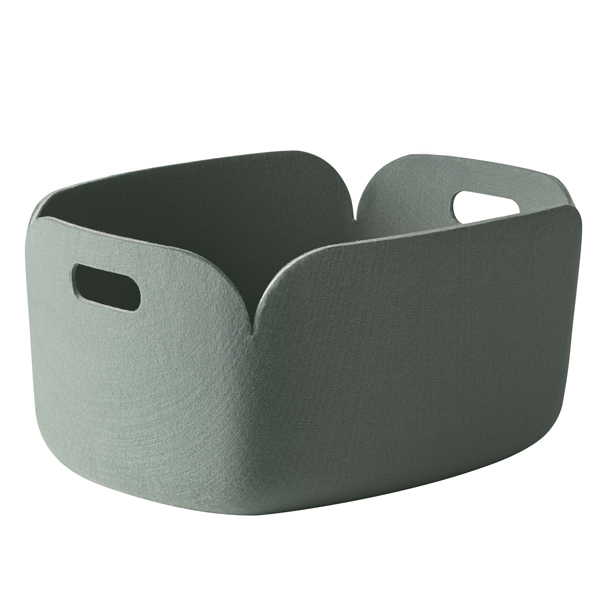 Muuto Restore storage basket, dusty green