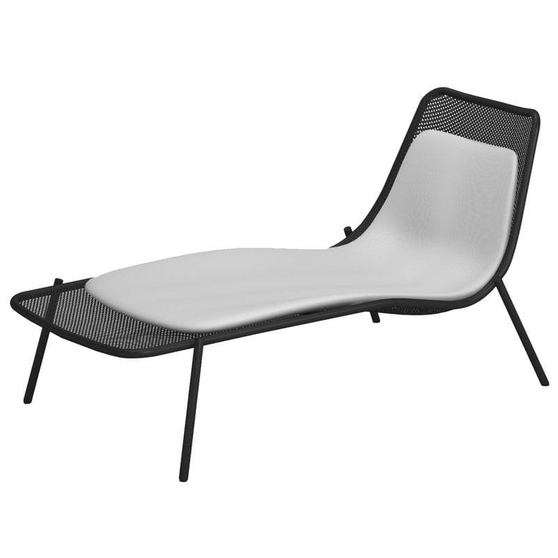 Emu Round sunbed cushion, white