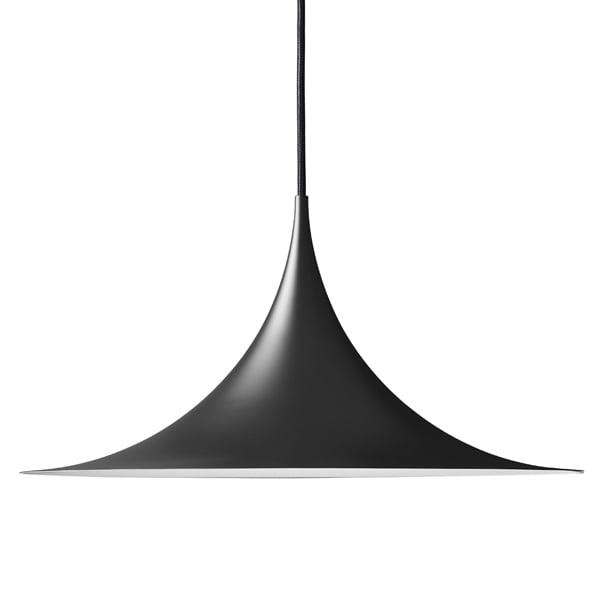 Gubi Lampada Semi 47 cm, nero opaco