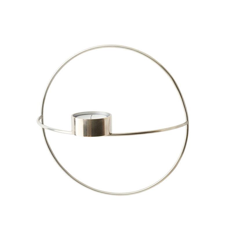 Menu POV Circle tealight holder, S, silver