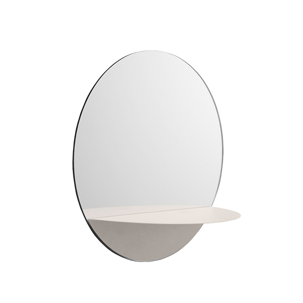 Normann Copenhagen Specchio Horizon, rotondo, bianco