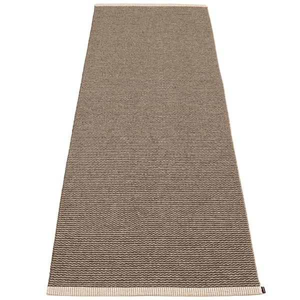 Pappelina Mono rug, 85 x 260 cm, dark mud