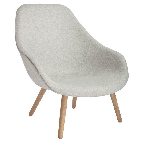 Hay About A Lounge Chair AAL92, lacquered oak - Divina Melange 120