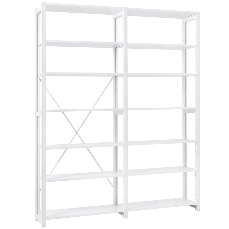Lundia Classic open shelf, double, white