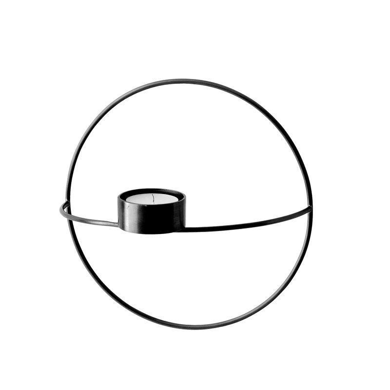 Menu POV Circle tealight holder, S, black