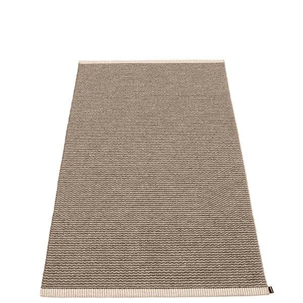 Pappelina Mono rug, 85 x 160 cm, dark mud