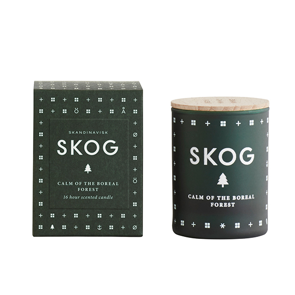 Skandinavisk Scented candle with lid, SKOG, small