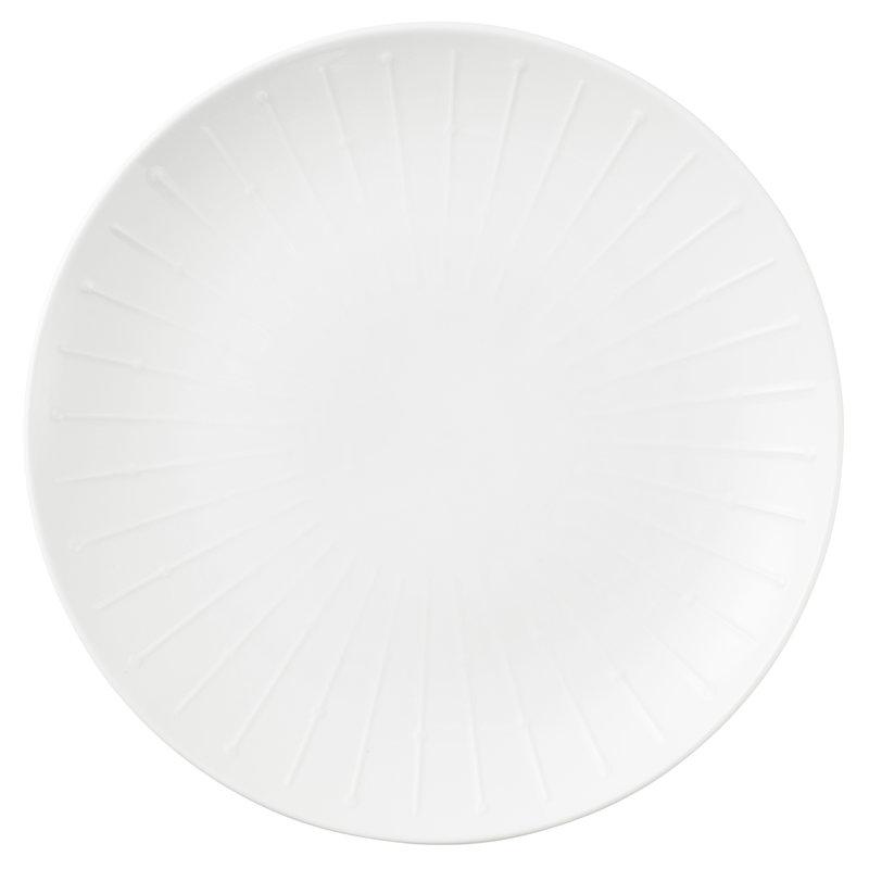 Tivoli Banquet coupe plate 27 cm, white