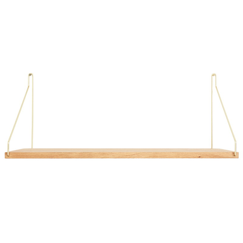 Frama D27 wall shelf, 60 cm, brass