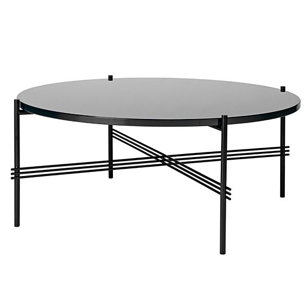 Gubi TS sohvapöytä, 80 cm, musta - musta lasi
