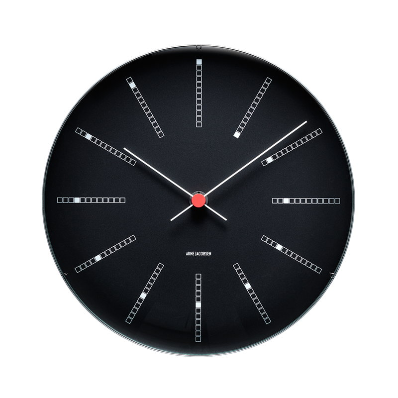 Arne Jacobsen AJ Bankers wall clock 21 cm, black