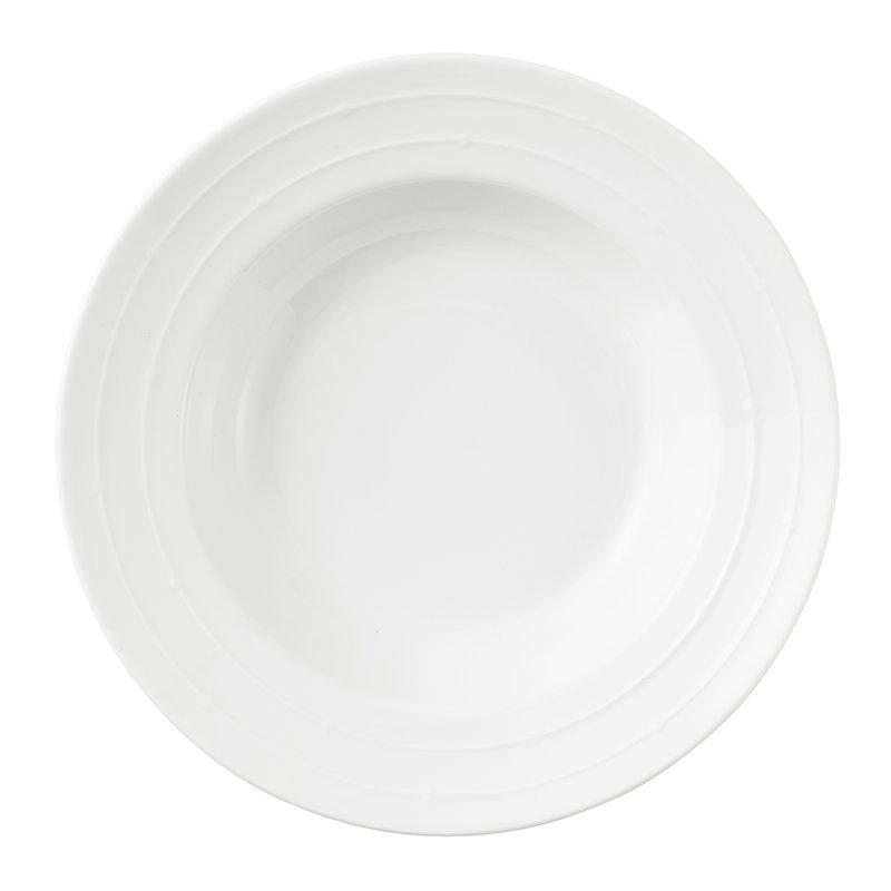 Tivoli Banquet syvä lautanen 22 cm, valkoinen
