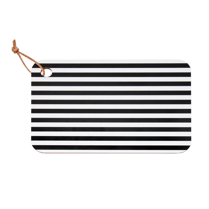 Marimekko Tasaraita   cutting board, black - white
