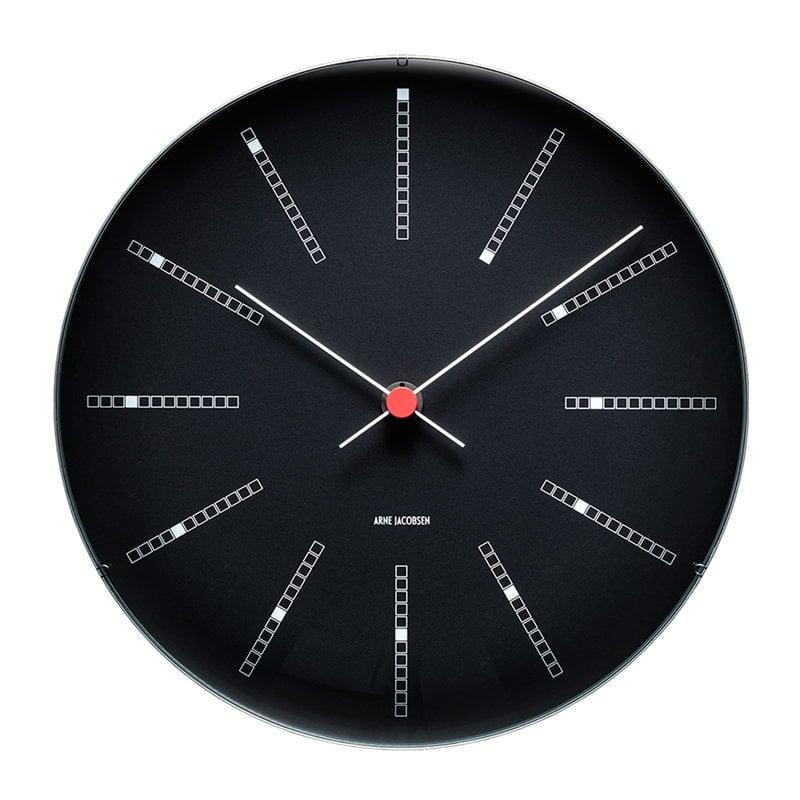 Arne Jacobsen AJ Bankers wall clock 29 cm, black
