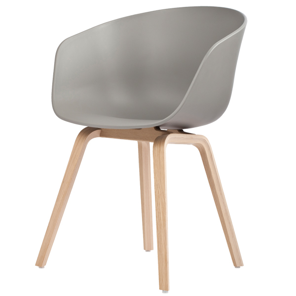 Hay About A Chair AAC22, grey - matt lacquered oak