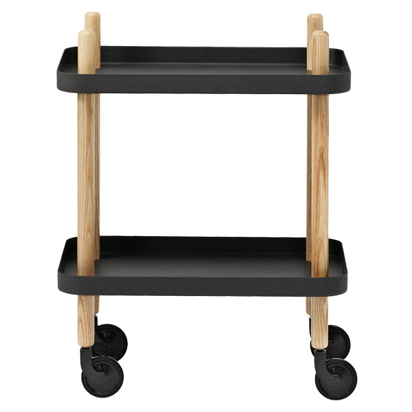 Normann Copenhagen Block table trolley, black