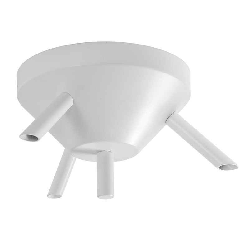 Airam Ceiling cup with 3 outlets, white