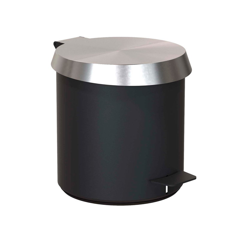 Frost Pedal Bin 250, brushed steel - black