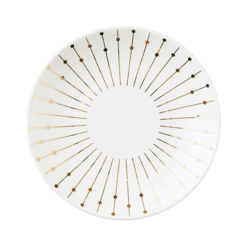 Tivoli Banquet coupe plate 17 cm, gold