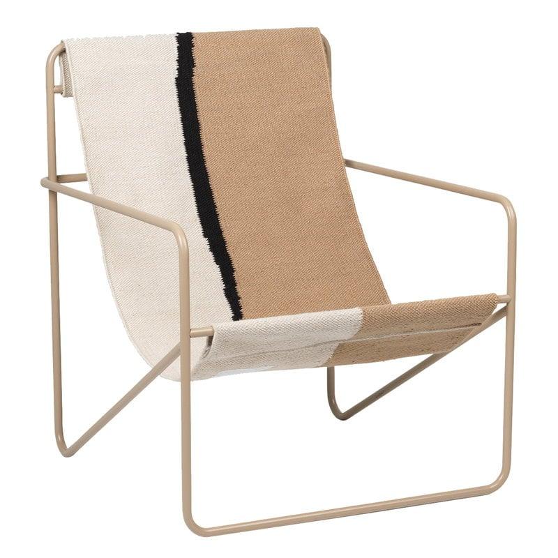 Ferm Living Desert lounge chair, cashmere - soil