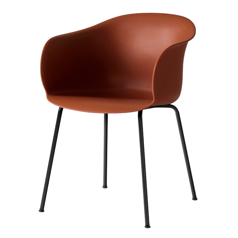 &Tradition Elefy JH28 chair, copper brown - black
