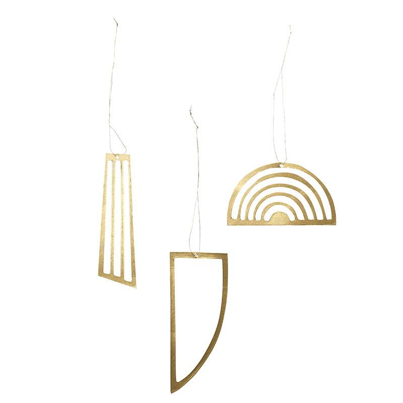 Ferm Living Golden Ornaments, set of 3