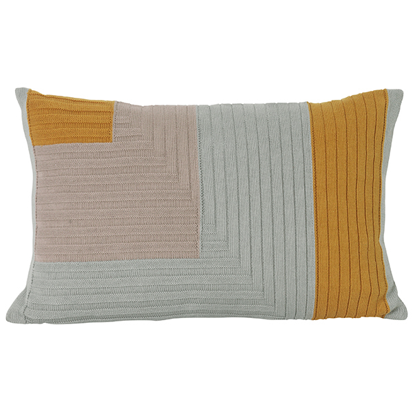 Ferm Living Angle Knit cushion, curry