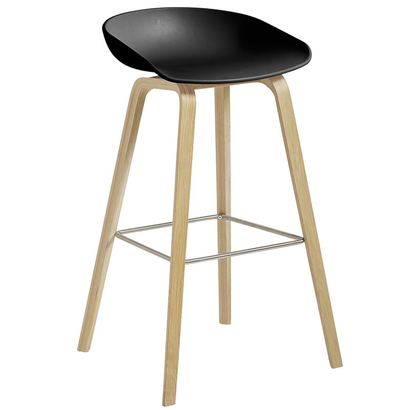 Hay About A Stool AAS32, 74 cm, black - matt lacquered oak