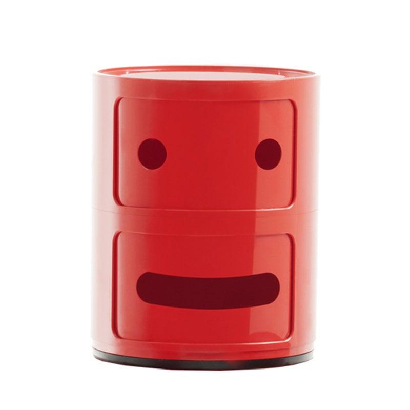 Kartell Mobile Contenitore Componibili Smile 2, 2 moduli, rosso