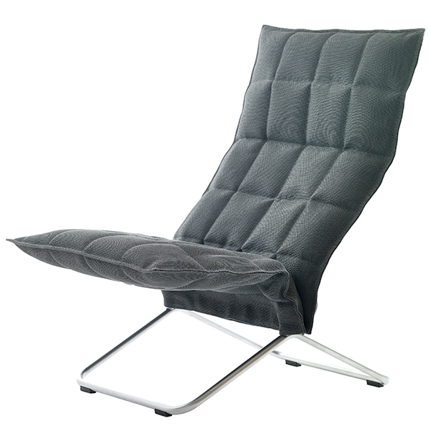 Woodnotes K chair, narrow, graphite