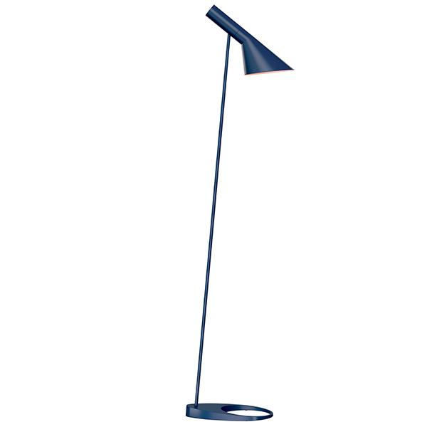 Louis Poulsen AJ floor lamp, midnight blue