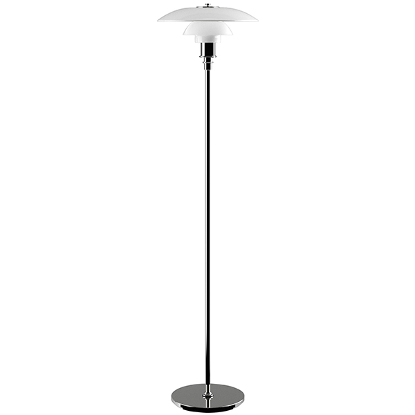 Louis Poulsen PH 3 1/2 - 2 1/2  floor lamp, chrome plated