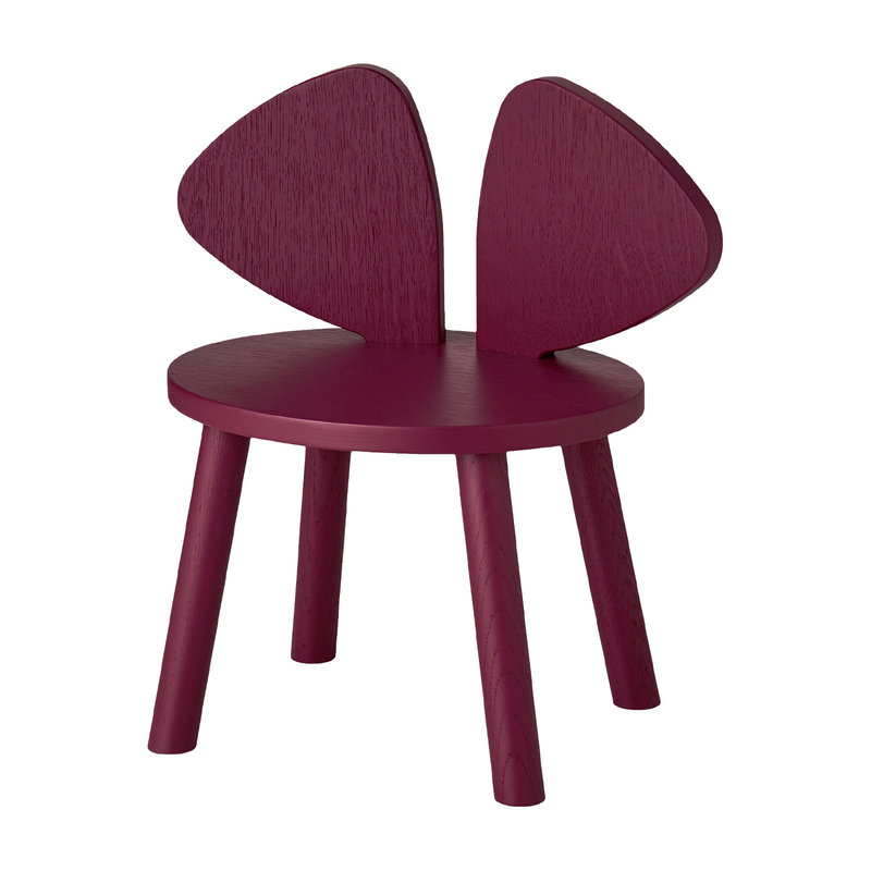 Nofred Mouse children's chair, low, burgundy
