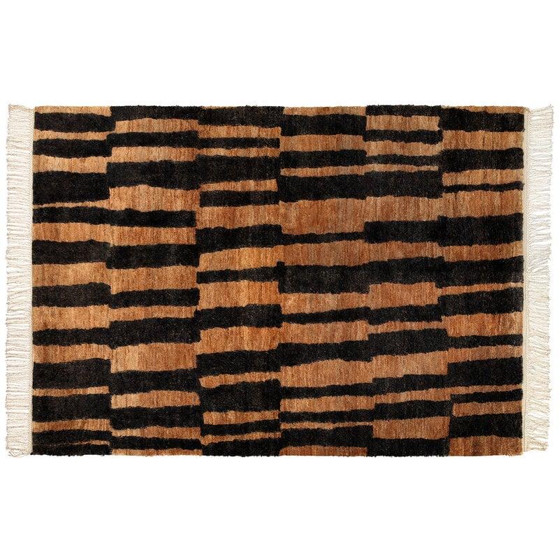 Roots Living Pilari matto, hamppu, natural - musta