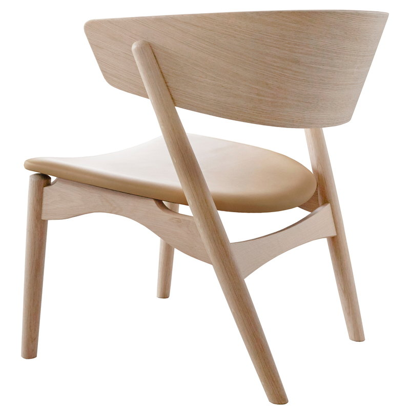 Sibast No 7 Lounge chair, soaped oak - honey leather