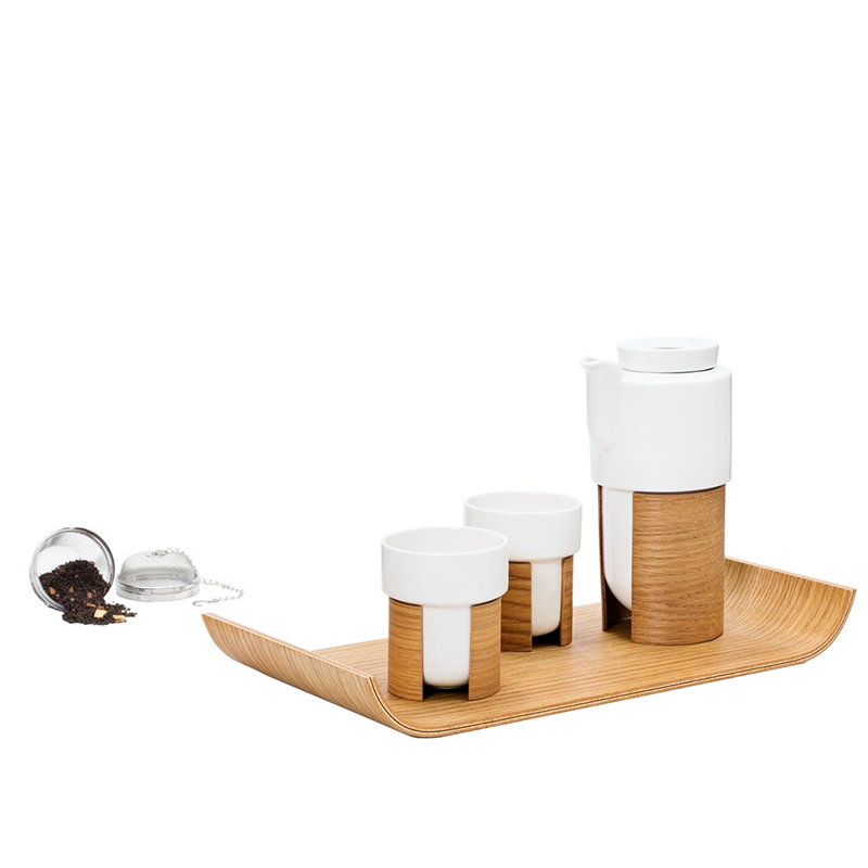 Tonfisk Design Warm tea set, oak