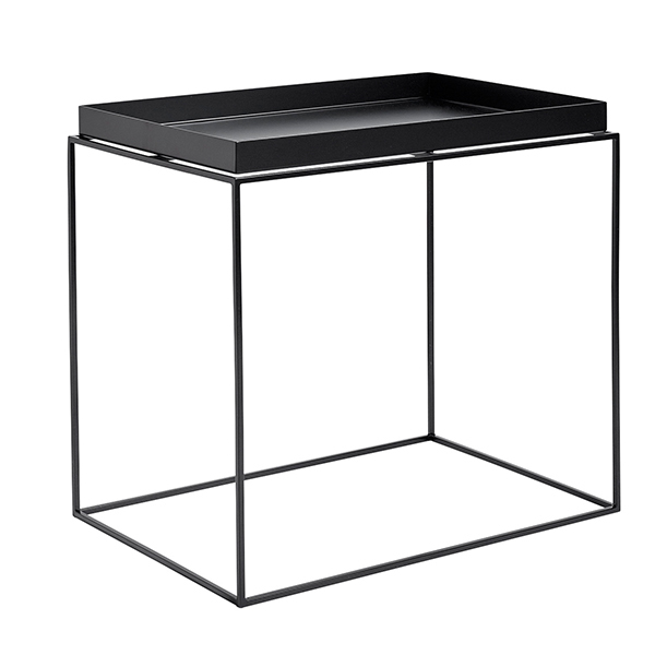 Hay Tray table rectangular, black