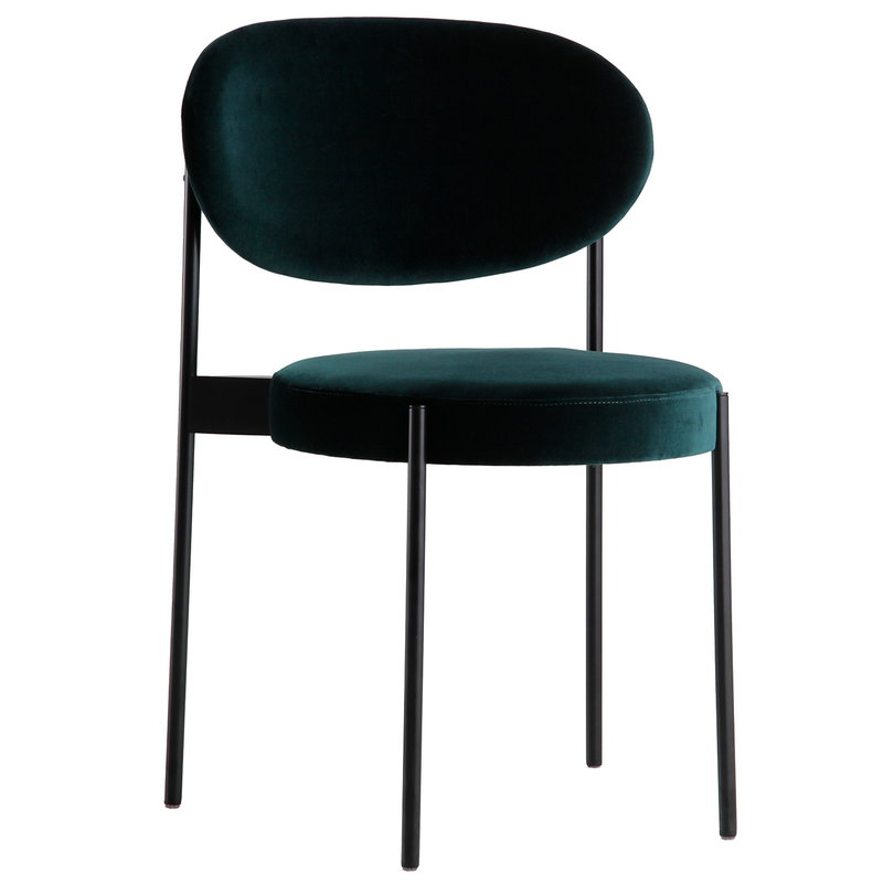 Verpan Series 430 chair, dark green