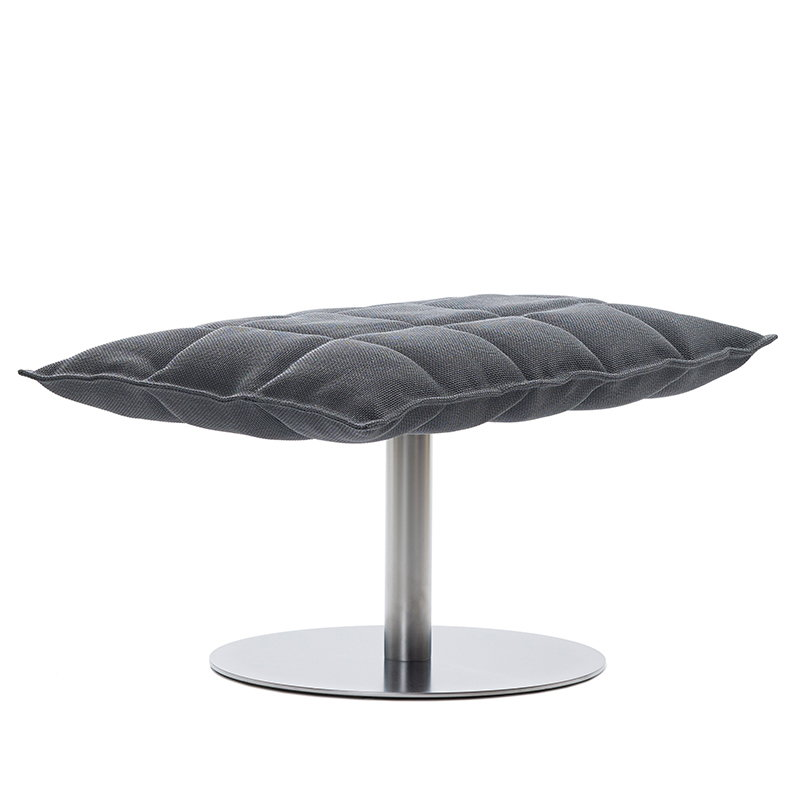 Woodnotes K ottoman, wide, base plate, graphite