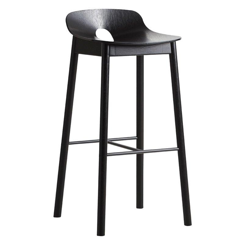 Woud Mono bar stool 75 cm, black