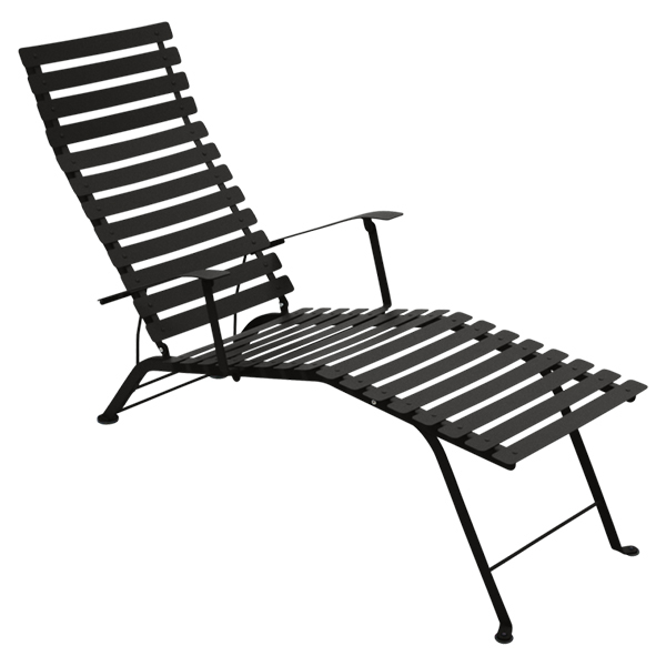 Fermob bistro metal chaise longue liquorice finnish for Chaise longue aluminium