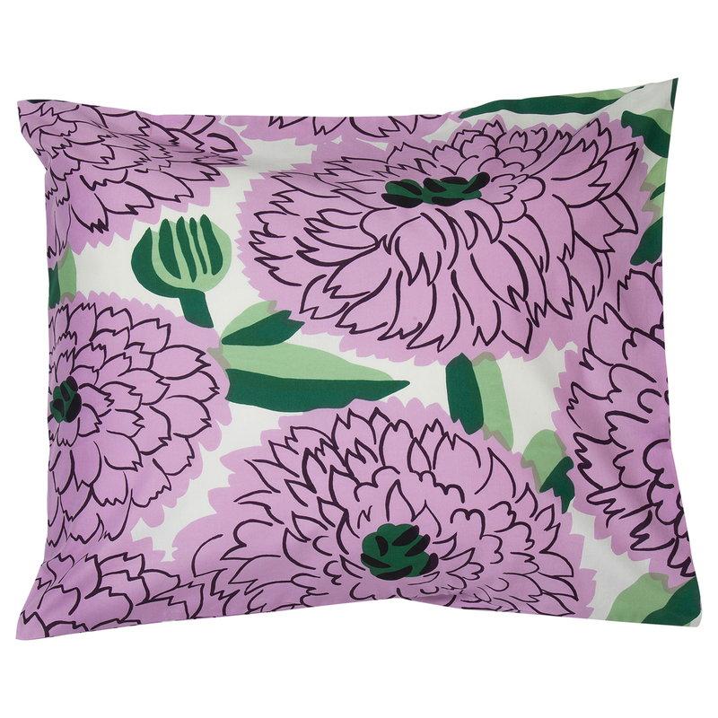 Marimekko Primavera tyynyliina, luonnonvalkoinen - violetti - vihreä