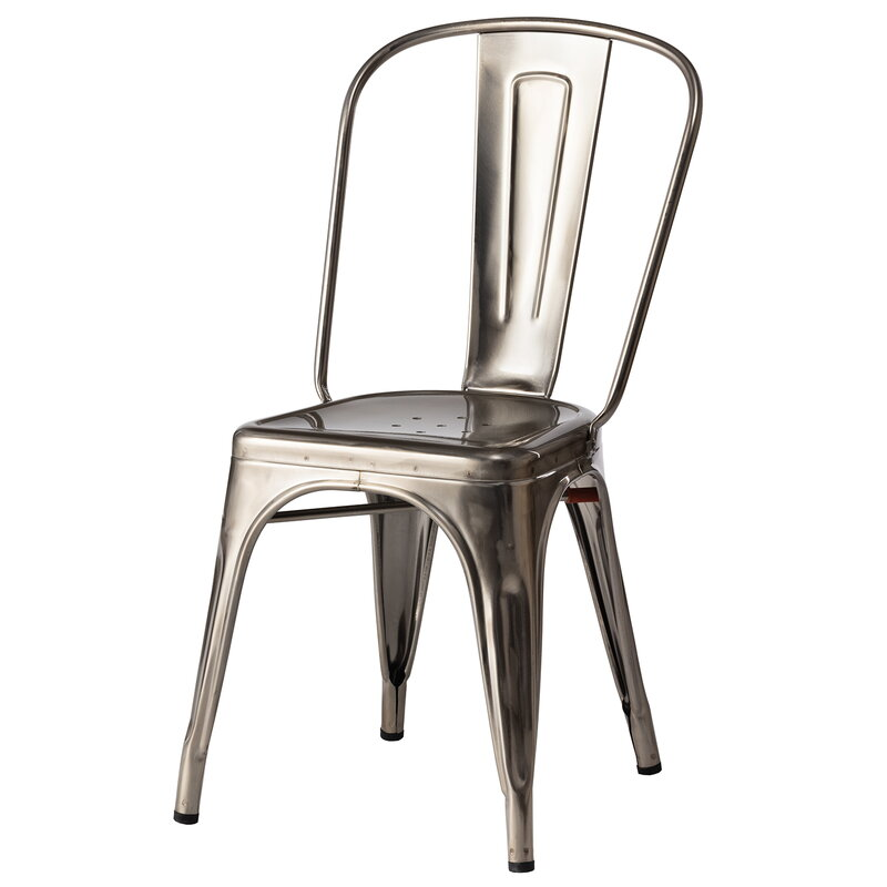 Tolix Chair A Brillant Varnished Steel, Tolix Outdoor Chair