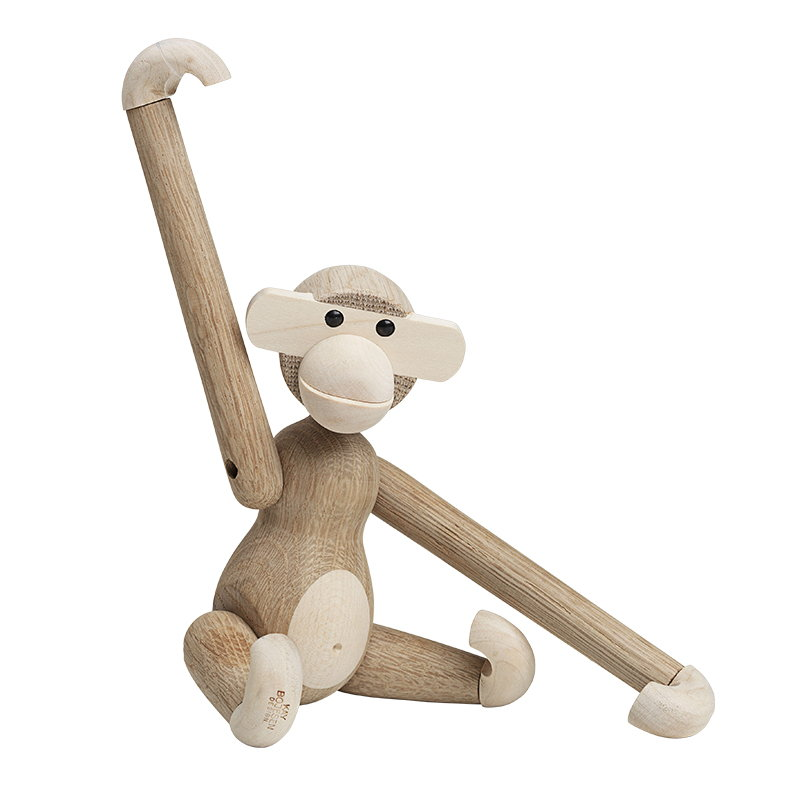 Kay Bojesen Wooden Monkey, small, oak - maple