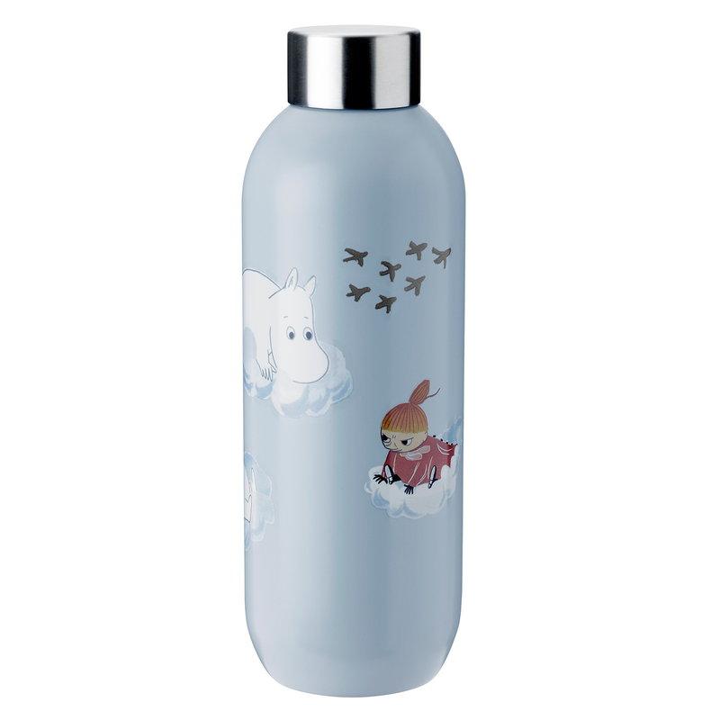 Stelton Keep Cool water bottle, cloud - Moomin