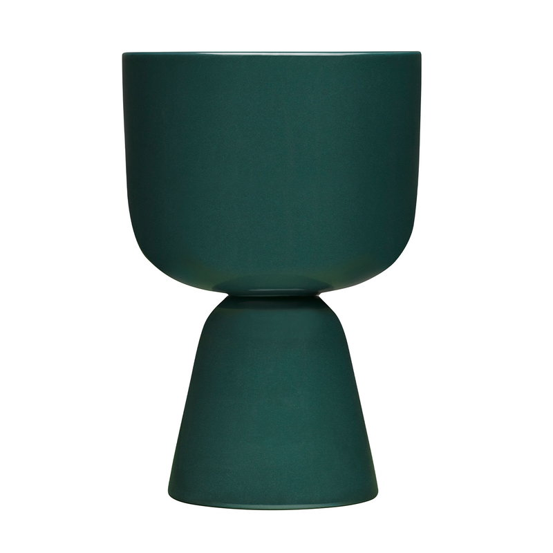 Iittala Nappula plant pot 230 x 155 mm, dark green