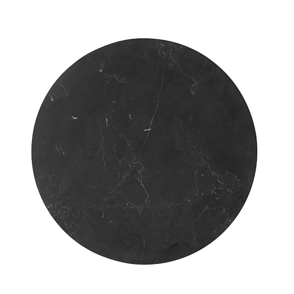 Menu Wire table top, black marble